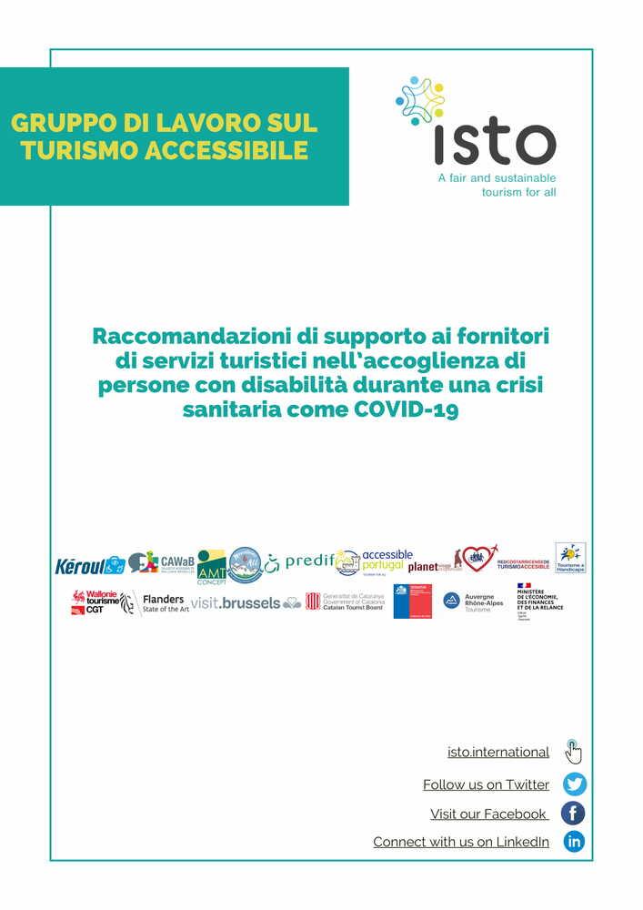 Raccomandazioni di ISTO per un turismo inclusivo in tempo di crisi sanitaria